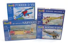 Three Revell 1:722 scale plastic Aircraft Kits