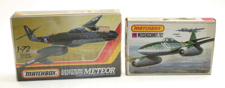 Two Matchbox 1:72 scale plastic Aircraft Kits