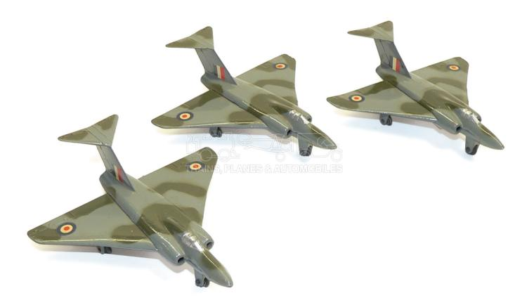 Three Dinky 735 Gloster Javelin Fighter Planes