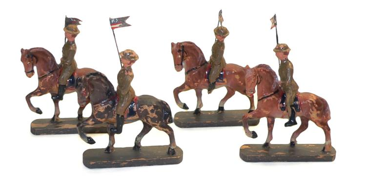 Four composite Mounted Soldiers