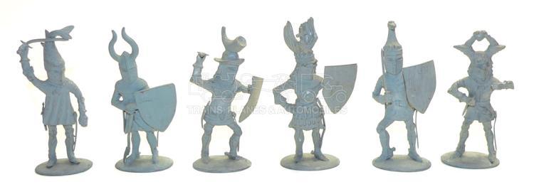 Six diecast approx. 75mm Warrior Figures