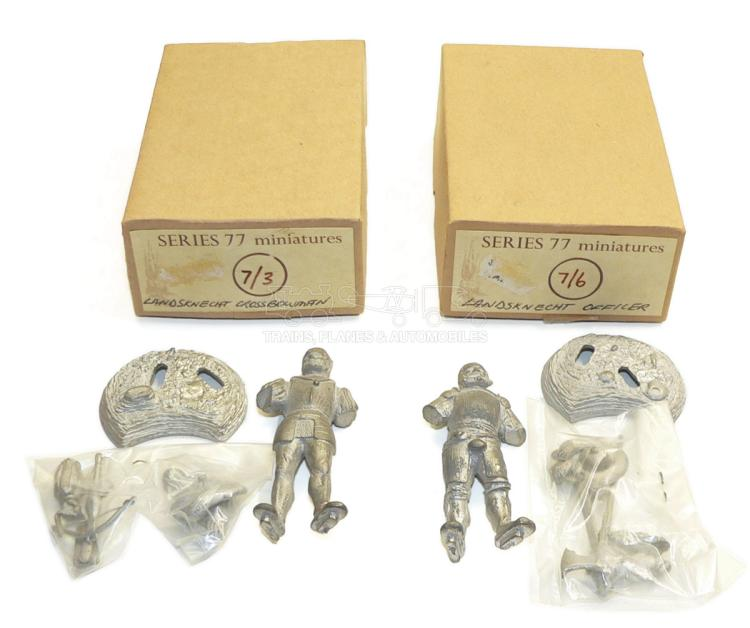 Two Series 77 Miniatures diecast 70mm Soldier Figures