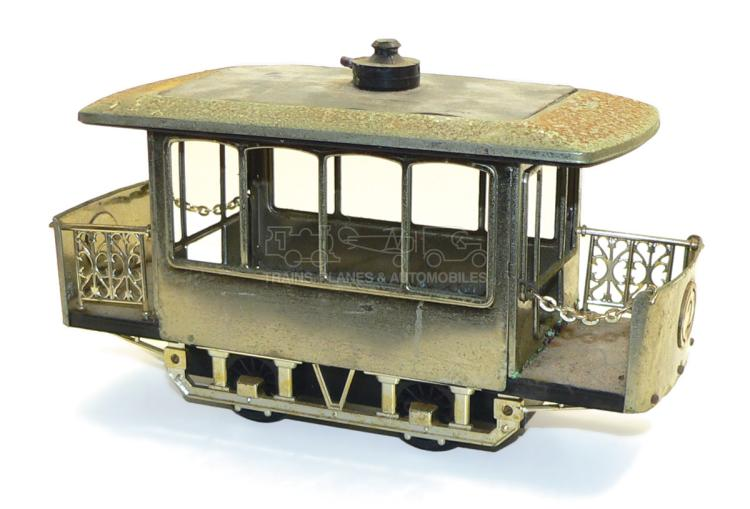 Japanese tinplate & plastic Tram Car