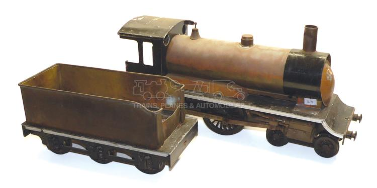 Scratch-built 3-gauge live steam 4-4-0 Locomotive