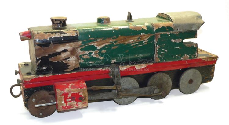 Wooden pull-along Locomotive
