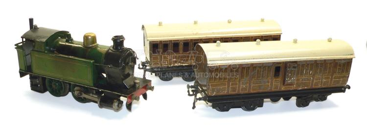 Marklin O-gauge live steam LNER Tank Locomotive with Coaches