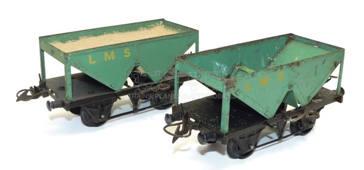 Two Hornby O-gauge LMS 4-wheel Hopper Wagons