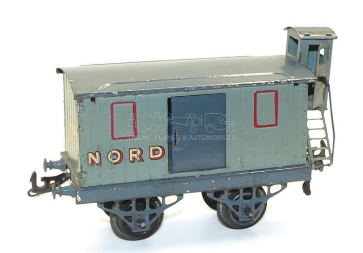 Hornby O-gauge pre-war NORD Brake Van with Vigie