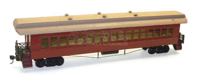 Scratch-built O-gauge wooden E&W bogie Passenger Coach
