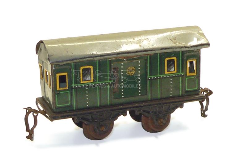 German O-gauge 4-wheel Passenger Baggage Car