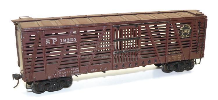 Kit-built O-gauge SP bogie Livestock Car