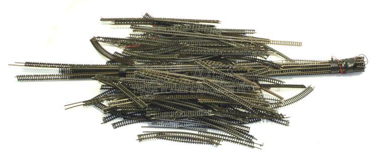 Large quantity of N-gauge Track
