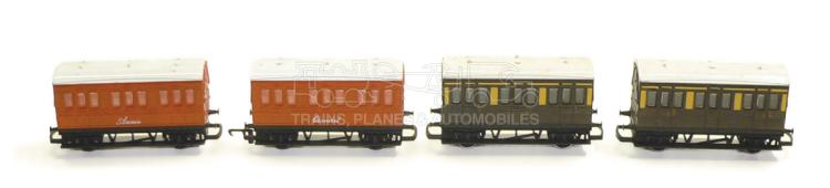 Four Hornby OO-gauge 4-wheel Passenger Coaches