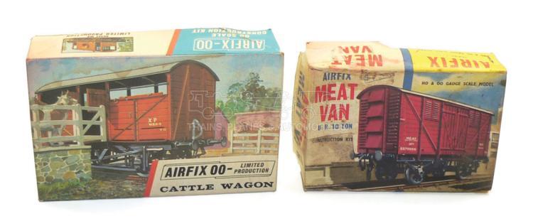 Two Airfix OO-gauge Goods Wagon Kits