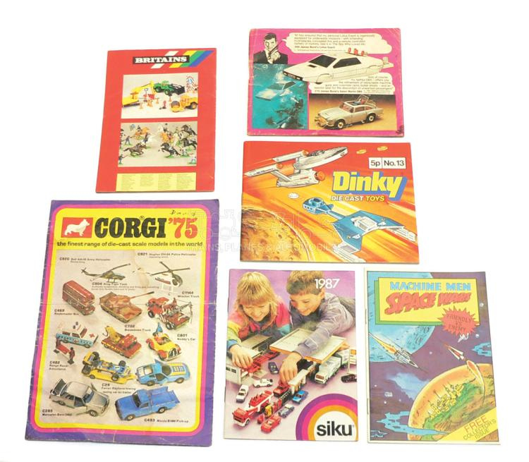 Six Catalogues from Corgi, Dinky, Britains, Siku & Bandai