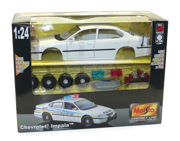 Maisto 1:24 scale Chevrolet Impala Police Car Kit