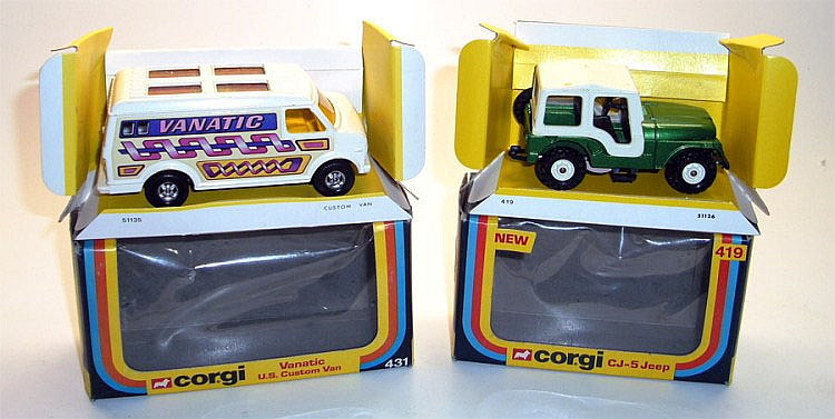 Two Corgi Vehicles