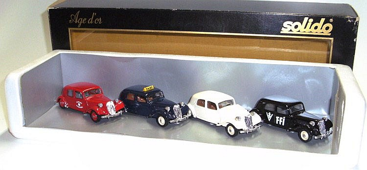 Solido Age d'or Set of four Citroens