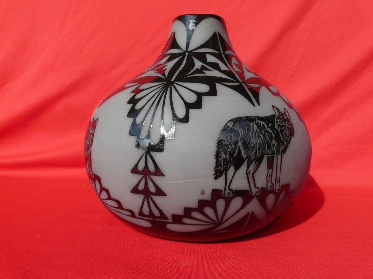 1992 First Place New Mexico State Fair Handmade Free Hand Design Pot