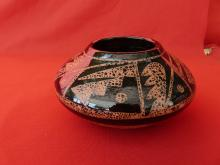 Hand Made Micaceous Clay Design Inside