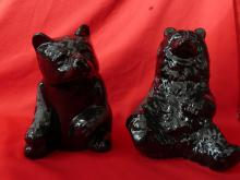 2 Ceramic Hand Made Bears 1996