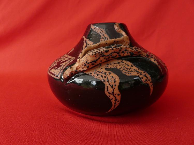 Hand Built Micaceous Clay Vase