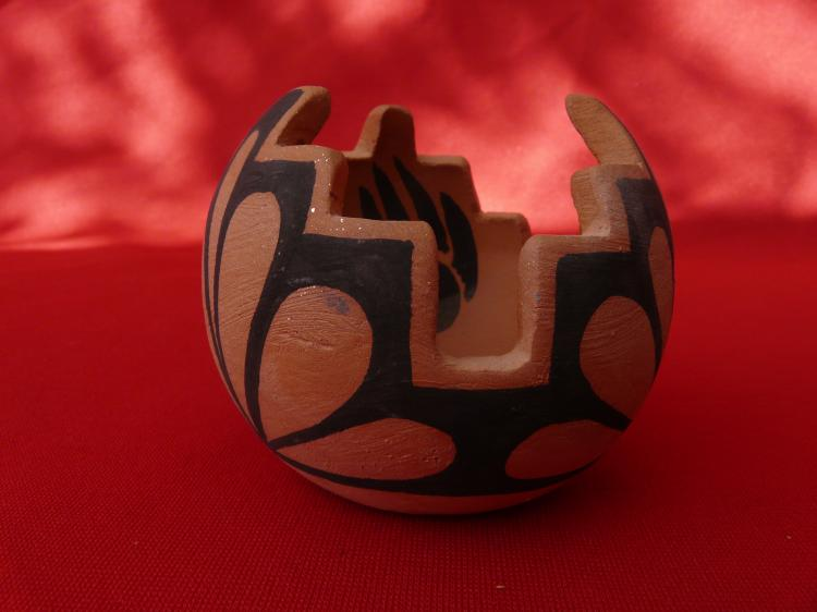 Handmade Red Clay Offering Bowl