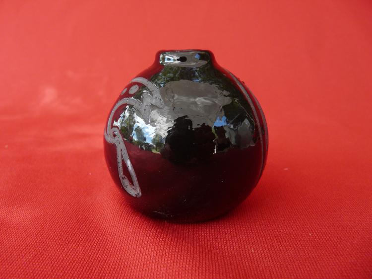 Small Black Ceramic Seed Bowl