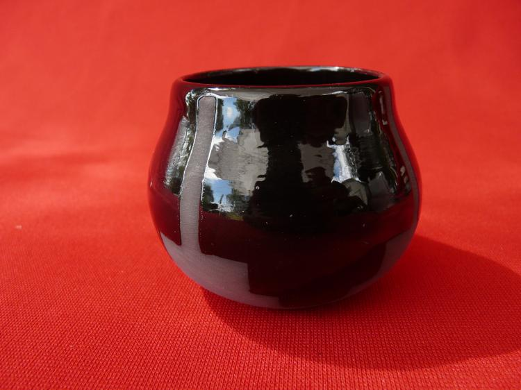 Small Black Handmade Ceramic Pot