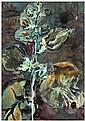 Barbara Thaden (née en 1960) Natur, 1996 Gouache sur papier Signée et datée 96 en bas à droite Gouache on paper Signed and dated 96 ...