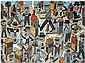 Antonio Segui (né en 1934) Dia de fiesta, 1992 Technique mixte sur toile Signée au dos Mixed media on canvas Signed on the reverse 9...