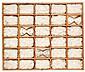 Miquel Barceló (né en 1957) Sans titre, 1976 Coton, noeuds papillon en soie et épingles dans coffrage  en bois et verre Signé, situé...