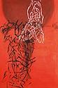 ƒ David Salle (né en 1952) The Precursor's sublime, 1981 Acrylique sur toile Signée, titrée et datée au dos Acrylic on canvas Signed...
