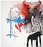 Enzo Cucchi (Né en 1949) Sans titre Huile sur toile Signée en bas à droite Oil on canvas Signed lower right 170 x 152,5 cm - 66 7/8 ...