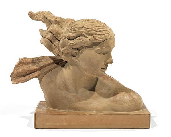 ALEXANDRE KELETY (1918-1940) buste de femme en terre cuite