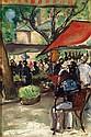 Nicolas Sinezouboff (1891-1948) Place de marché EN CORSE, 1934 Huile sur panneau Dédicacée en bas à gauche