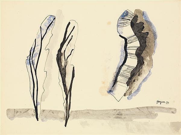 Toyen (Maria Cerminova) (1902-1980) Paysage, 1934 Encre et aquarelle sur papier Signée et datée