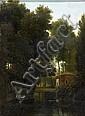 Pierre- Athanase CHAUVIN (Paris 1774 - Rome 1832) Pavillon forestier au bord d'un étang Sur sa toile et son châssis d'origine 33,5 x..., Pierre-Athanase Chauvin, Click for value
