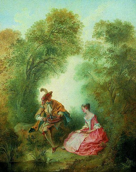 Nicolas LANCRET (Paris 1690-1743) Le joueur de Vielle Toile 92 x 75 cm