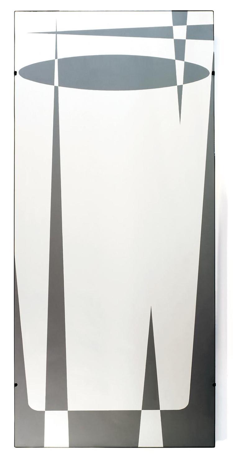 Jacques hitier 1917 1999 marly miroitier grand miroir for Grand miroir noir baroque