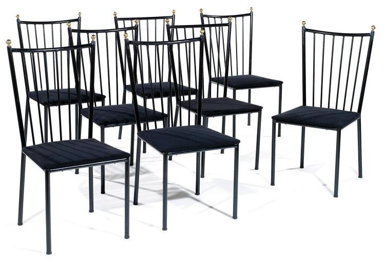 Colette gueden 1905 2000 suite de huit chaises structure - Chaises stratus noir ...