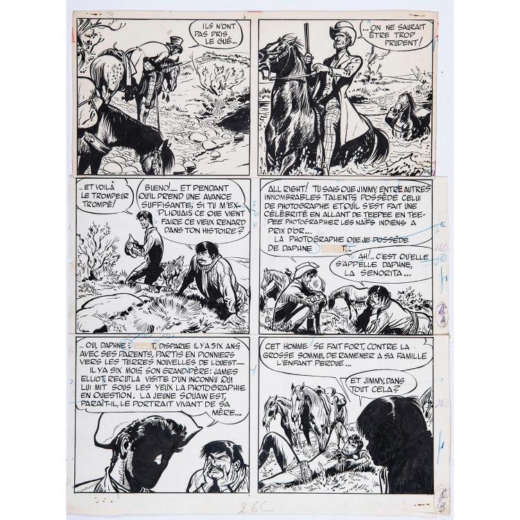 Jijé (Joseph Gillain dit) (1914-1980) Jerry Spring, Lune d'argent - Tome 3