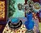 NICOLAS ISSAIEV (1891-1977) Fleurs et tasses Huile sur isorel Signée en bas à droite 38 x 46 cm, Nikolaj Isaev, Click for value