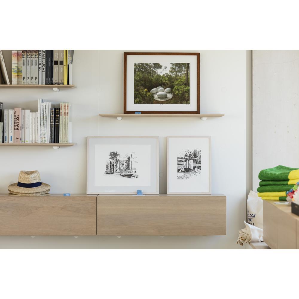 """Fondation Carmignac Un tirage de Nils-Udo, représentant l'œuvre """"La Couvée"""", Photographie 52x41.8cm Numéroté et signé par l'..."""