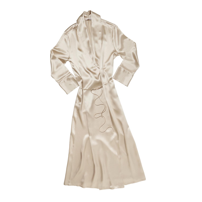 Frette Robe de chambre en soie avec invitation à la boutique du 48 rue du Faubourg Saint-Honoré, 75008 Paris, pour le choix d'une...