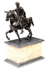ECOLE FRANÇAISE DU XIXe SIECLE Marc-Aurèle, d'après la statue antique conservée à Rome, place du Capitole