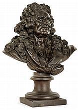 ECOLE FRANÇAISE DU XIXeSIECLE Portrait d'un gentilhomme du XVIIesiècle Fonte de fer HAUT