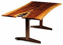 George NAKASHIMA (1905-1990) Grande table de salle à manger