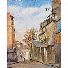 ROBERT LOTIRON (1886-1966)  VUE DE MONTMARTRE, 1922