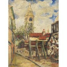 ÉLISÉE MACLET (1881-1962)  VUE DE MONTMARTRE